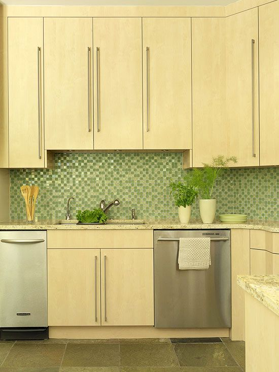 Colorful kitchen backsplash ideas kitchens modern and Modern green kitchen ideas