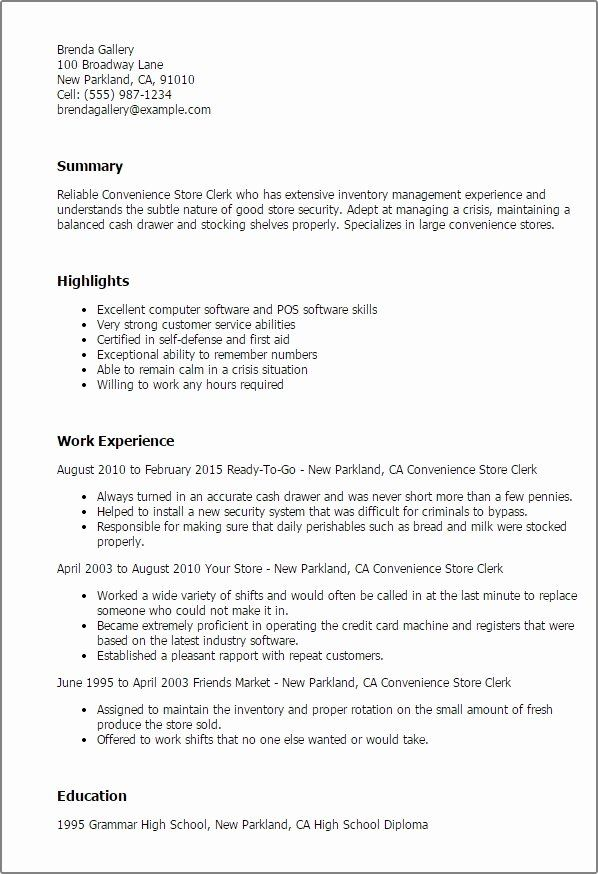 20 Grocery Store Clerk Resume With Images Job Resume Samples