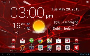 Nice clock widget you should try it.