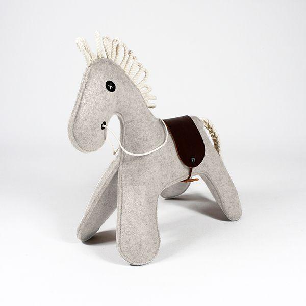 toy horse - KONNIK - white melange 2