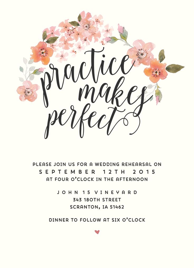 Boho Chic Rehearsal Dinner Invitation // SplashOfSilver Etsy Shop // Watercolor flowers Garden Wedding