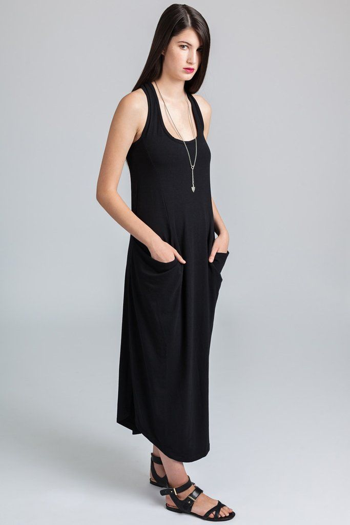 Salt Spring Dress - Pillar ethical slow fashion # saltspring #dress #loosefit #pockets #ethical #slowfashion #midiskirtdress #princessseams #spring #summer #lightweight #beachwear #casualdresses #comfort #fashion #style
