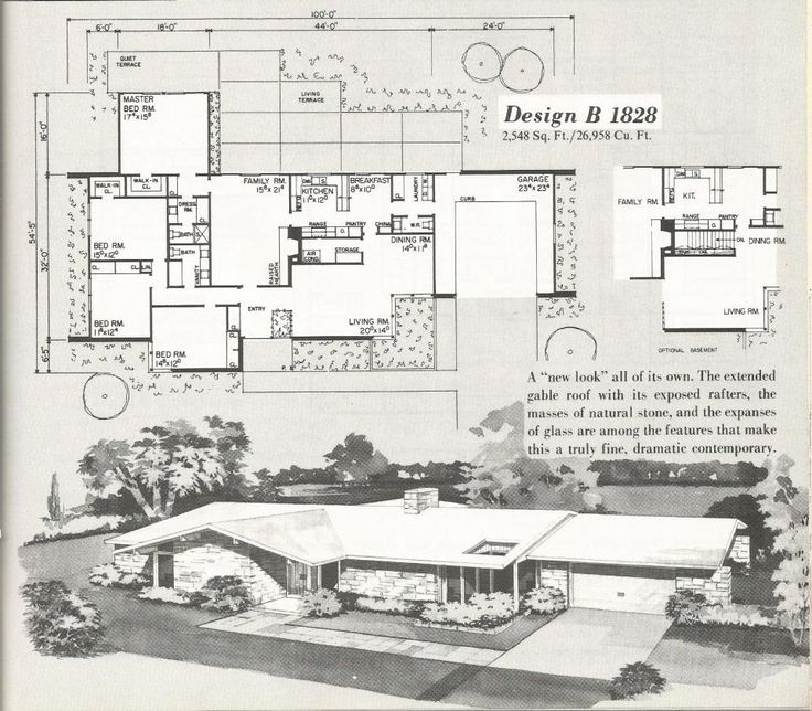 Atomic ranch house plans for Vintage ranch house plans