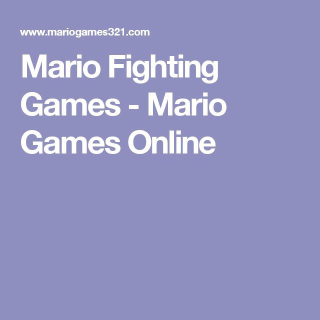 Mario Fighting Games - Mario Games Online