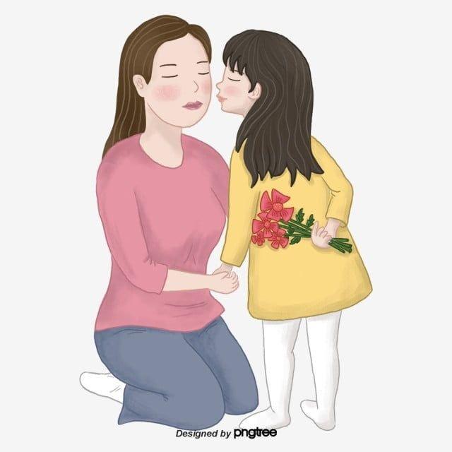 Gambar Kartun Hari Ibu Memberi Ibu Gadis Bunga Watak Watak Kartun Gadis Png Dan Psd Untuk Muat Turun Percuma Hari Ibu Kartun Ibu