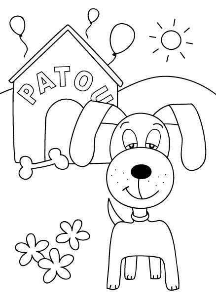 25 B 228 Sta Id 233 Erna Om Chien Coloriage P 229 Pinterest Chiot