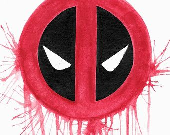 Impresión del arte de Deadpool, Colorsplash, universo, Marvel Comics, Anti héroe, Logo
