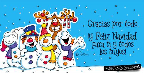 Gracias por todo, ¡y Feliz Navidad para ti y todos los tuyos!