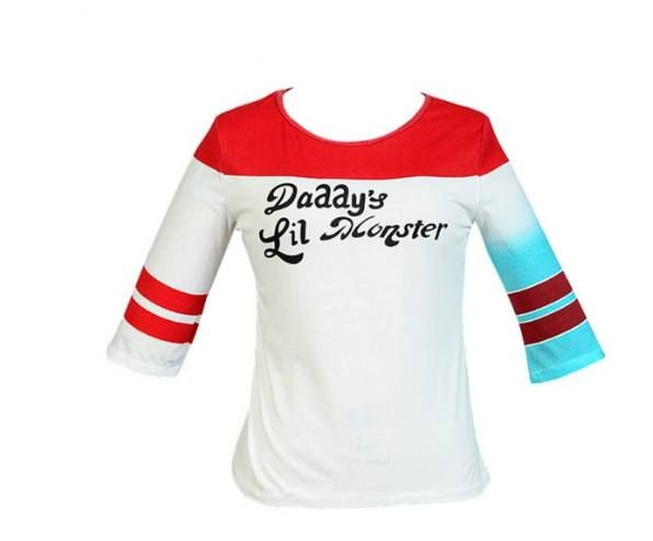 HARLEY QUINN Daddy's Lil Monster T-Shirt Costume