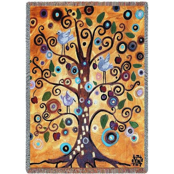 Untitled from the Tree of Life | Woven Throw Blanket | 54 x 70