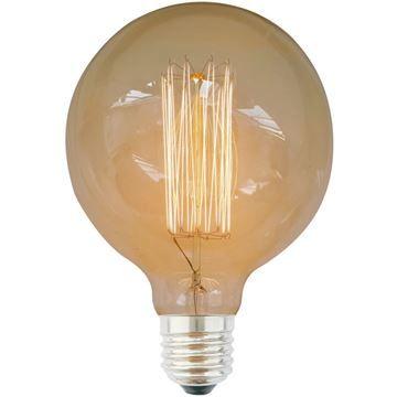 Bec decorativ Edison G125 40W E27, 220-240V