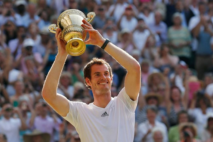 Andy Murray on 7 July 2013 won Wimbledon! He's the first British in 77 years...last one was Fred Perry in 1936