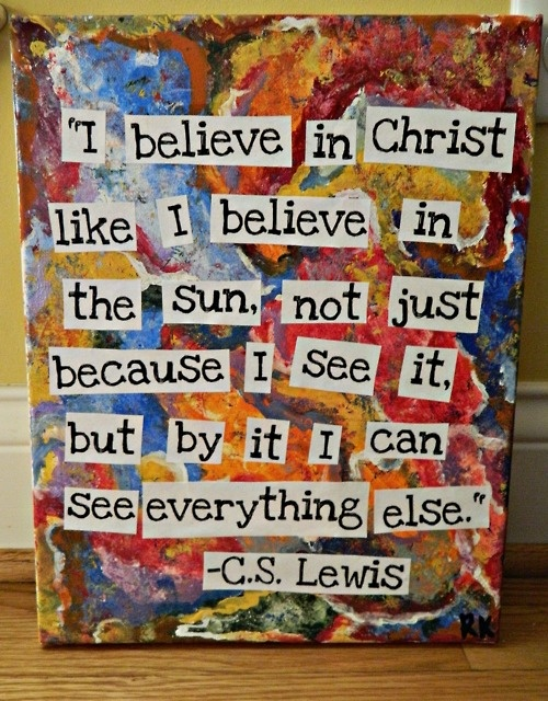 This means so much coming from C.S. Lewis, knowing his story