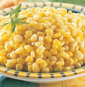 PEACHES & CREAM CORN. Whole kernel young peaches and cream corn is blanched and individually quick frozen, at its tender fresh best. M & M Meats Shops.