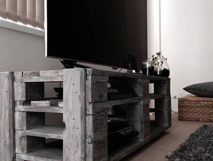 Meuble Tv Palette Le Recyclage En Chaine Meuble Tv