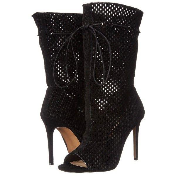 Steve Madden Forsaken High Heels ($170) ❤ liked on Polyvore featuring shoes, pumps, steve madden, synthetic shoes, open-toe pumps, steve madden pumps and slip on shoes