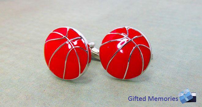 Mens Cufflinks - Basketballs. Find it at www.giftedmemoriesjewellery.com.au