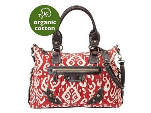 OiOi Pompeian Red Ikat Tapestry Slouch Tote Nappy Bag - really need a new bag
