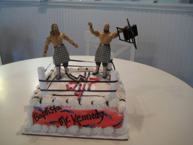 17 Best Ideas About Wrestling Birthday Cakes On Pinterest