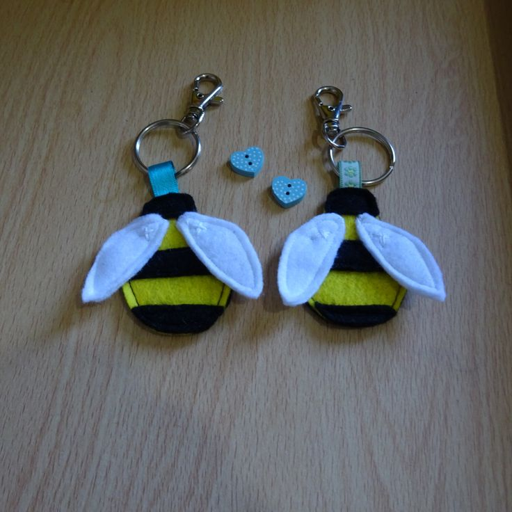 A personal favourite from my Etsy shop https://www.etsy.com/uk/listing/491951132/bumblebee-keychain-bee-key-ring-bag