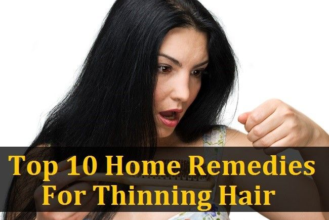 Top 10 Home Remedies For Thinning Hair - http://www.naturallivingideas.com/top-10-home-remedies-for-thinning-hair/