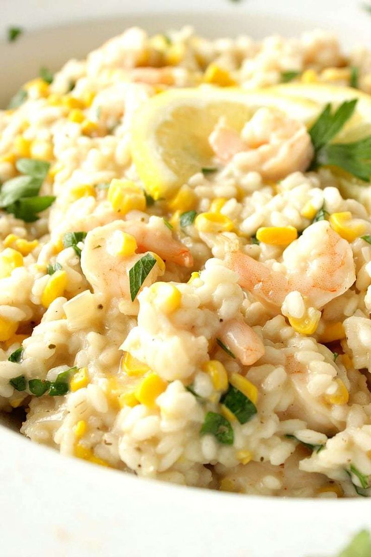 New England Sweet Corn Risotto is a great way to use up the last of summer's bounty of sweet corn. It's a creamy and delicious main course that can be on the dinner table in approximately 30 minutes. - Kudos Kitchen by Renee - kudoskitchenbyrenee.com