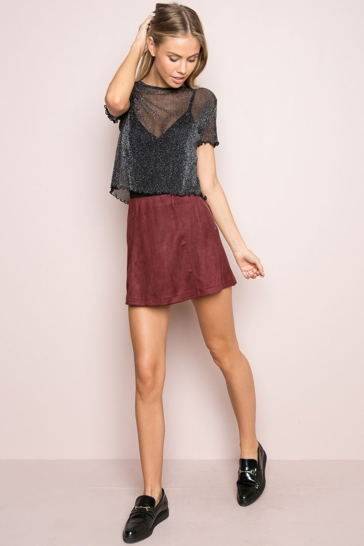 Brandy ♥ Melville | Porter Glitter Top - Tees - Tops - Clothing