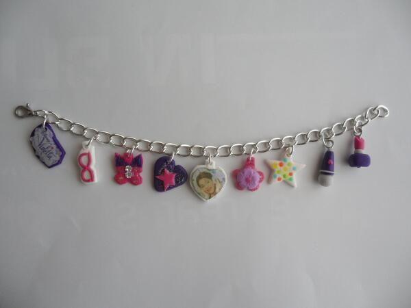 Violetta themed bracelet, made of polymer clay. Bracciale a tema Violetta, modellato a mano in fimo.  https://www.facebook.com/ipasticcidistefy http://www.alittlemarket.it/boutique/ipasticcidistefy-465031.html