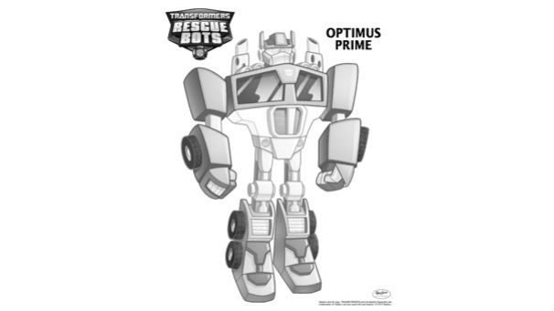 Coloriage Transformers Rescue Bots Optimus Prime Nolan