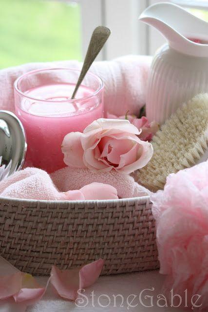 Make your own Rose Sea Salt Scrub