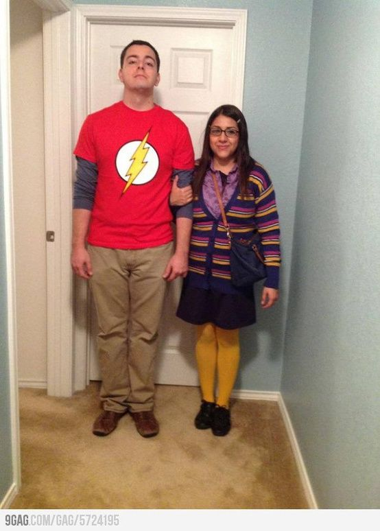 Greatest costumes ever!  Sheldon and Amy from Big Bang Theory