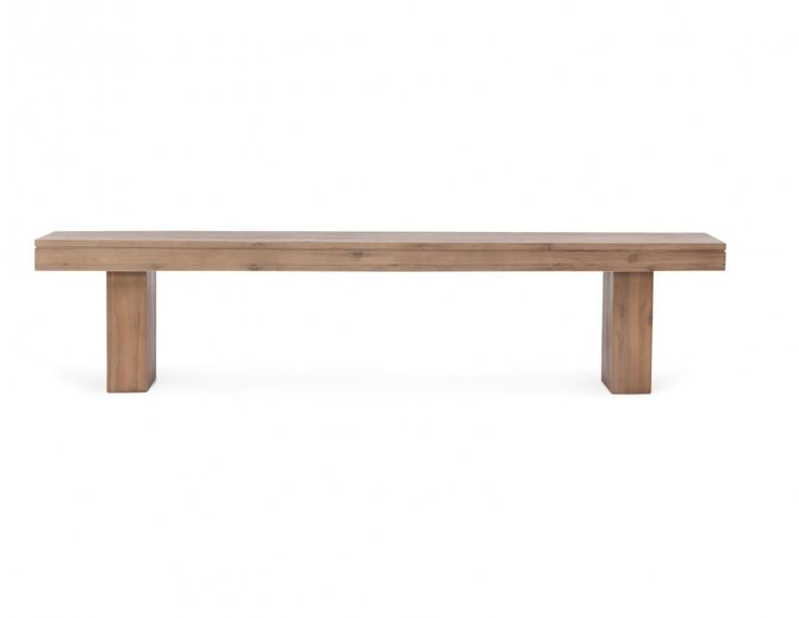 When it comes to benches, Cologne is as durable as they come. A wide surface and distinctive base speak to its primary goal: supreme comfort in a casual setting. Finished with a quality acacia wood veneer, Cologne's handsome grain fools the eye, making it a coveted piece for the dining room.