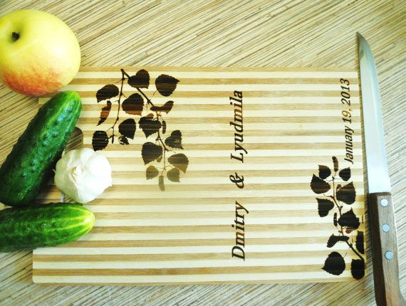 Personalized Cutting Board Picture on Wood by DoctorWoodcraft My shop on ETSY: www.etsy.com/shop/DoctorWoodcraft