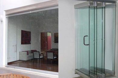 70 best images about puertas corredizas on pinterest for Puertas de cristal para interiores