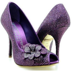 Purple wedding shoes. Found on Avenue 7 #purple #weddingshoes | See more about Purple, Gianmarco Lorenzi and Heels.