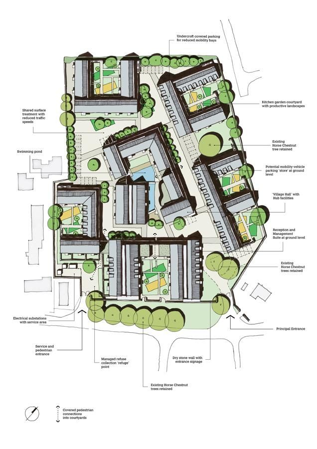 Steepleton Retirement Community - Roof Plan