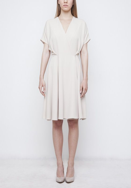 Image of Beige 'Cannes' Dress