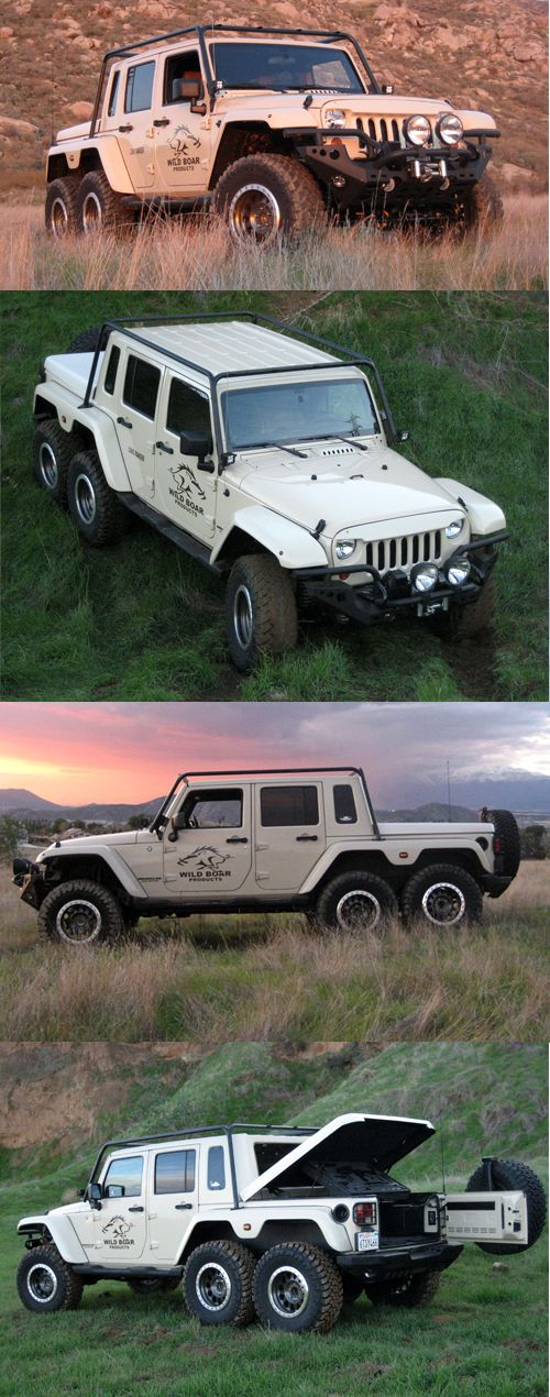 Oh my, I love this jeep!      WILD BOAR PRODUCTS: Cargo Racks & Accessories for your Jeep Wrangler