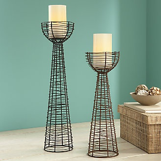 Set of 2 rustic candle stands | .countrydoor.com & 18 best Industrial/Vintage Looks by Country Door images on ... Pezcame.Com