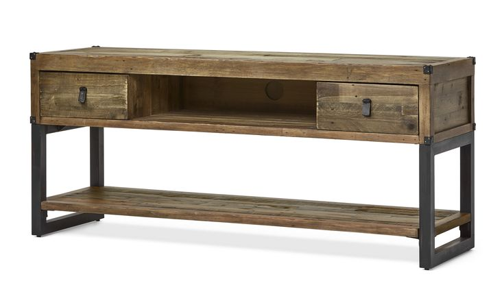 Woodenforge är en rustik Tv-bänk med industriell känsla. Den har två lådor och en öppen hylla som rymmer gott om förvaring. Den har många arbetade detaljer såsom läderhandtag, hörnbeslag i metall samt underrede i metall. Woodenforge serien inspireras av en tid då nytt land skapades och järnvägssystem byggdes. Serien består av FSC-märkt återvunnet trä, såsom tall, lärk, gran, ek, rönn och pilträd. Varje del i serien har en handgjord finish.