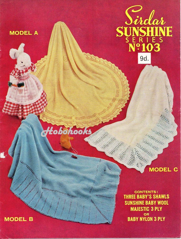 55 best Vintage Baby shawls & blankets knitting Knit
