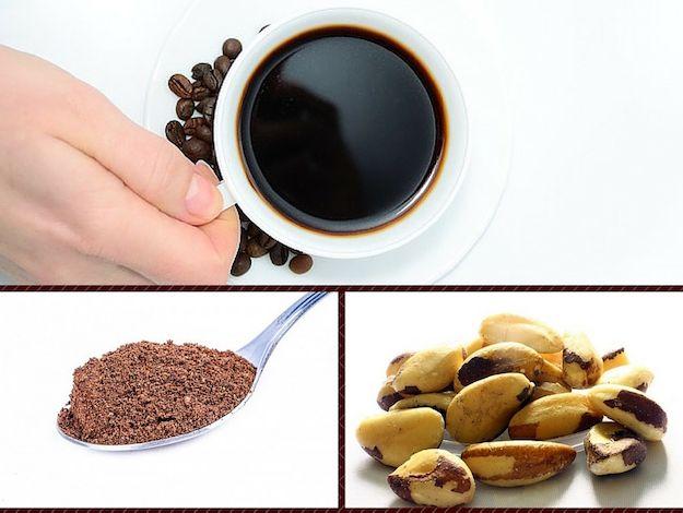Spuntino antiage: caffè con cacao e noci brasiliane
