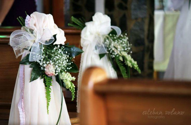 flower arrangements in the Church