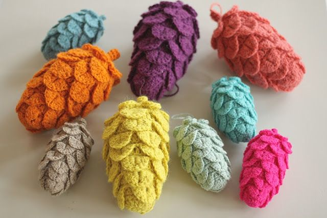 These are crocheted pine cones...but I like the idea of making something like this with felt
