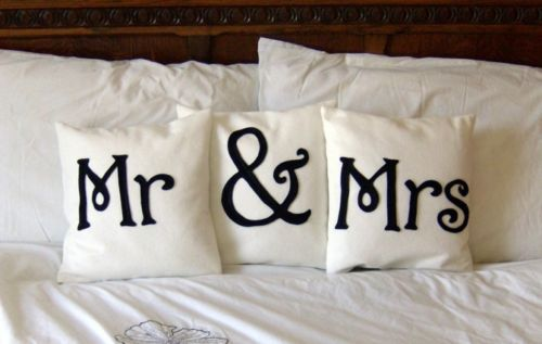 cutest thing ever- for first year of marriage on bed