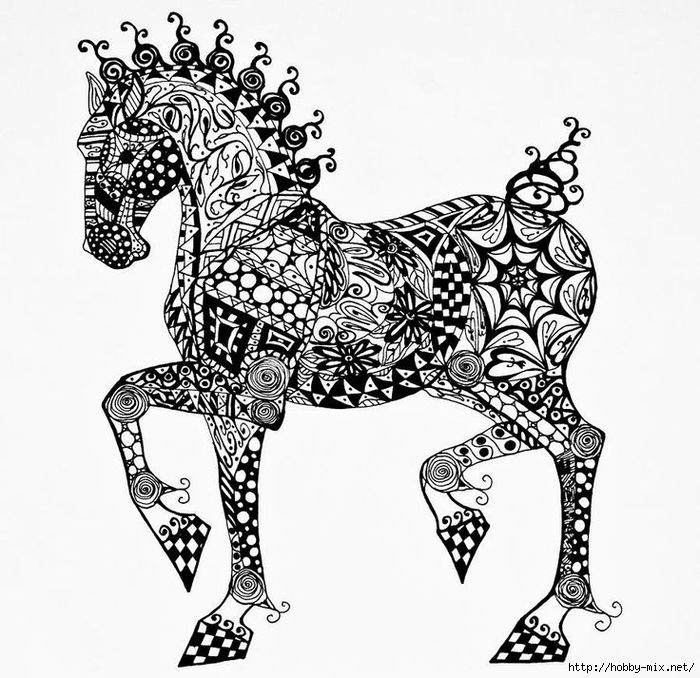 clydesdale foal zentangle drawing by jani freimann clydesdale foal zentangle fine art prints and posters for sale - Coloring Pages Horses Foals