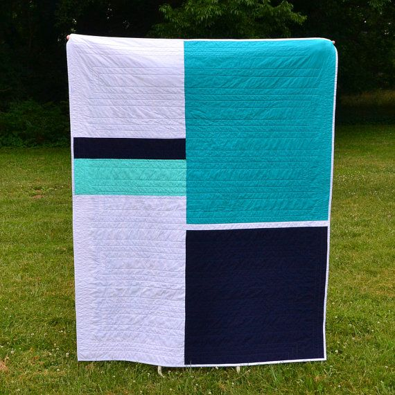 Handmade modern lap quilt | Twiggy and Opal on Etsy