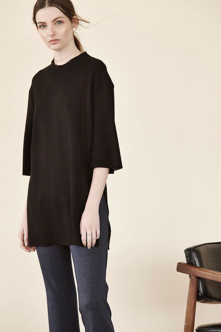 Back for another season is our Double Ponte Side Slit Tunic from the Shannon Passero Lifestyle Collection. This timeless elbow sleeve in black is a perfect work staple. Get it online at http://ss1.us/a/2OJgSfJp