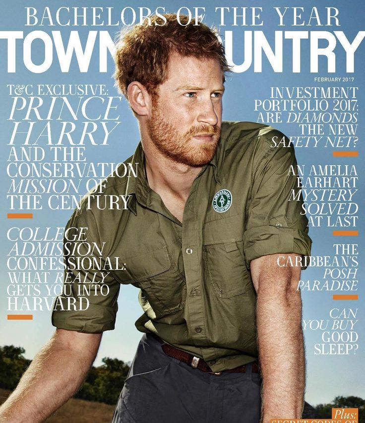 Prince Harry covers Town & Country Magazine #PrinceHarry #Town&Country