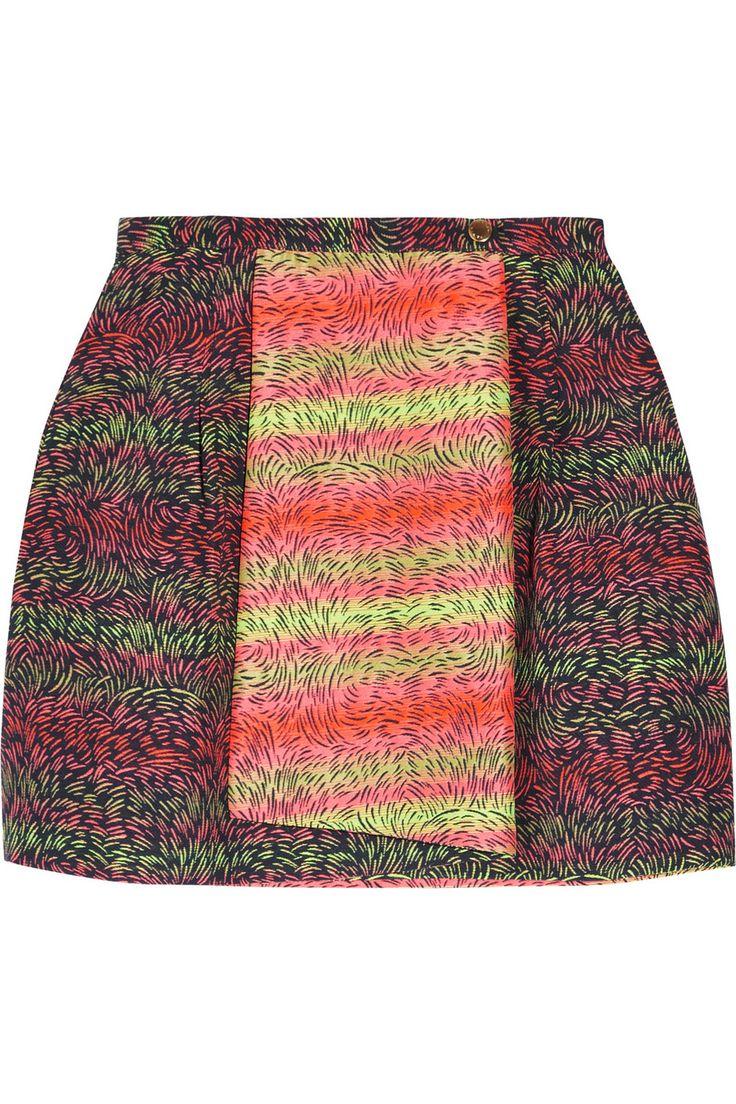 KENZO|Jacquard mini skirt|NET-A-PORTER.COM